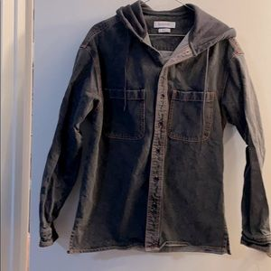 Urban Outfitters Jean shirt with soft hood